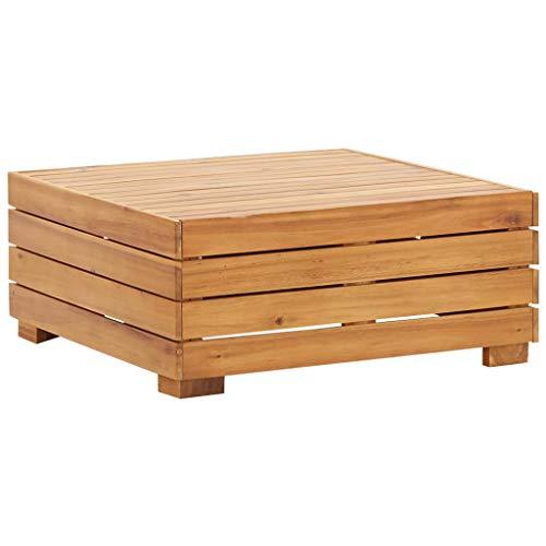 vidaXL Madera Maciza de Acacia Mesa Seccional 1 Pieza Mesita Modular de Jardín Muebles Esquineros de Exterior o Interior Fácil de Mover