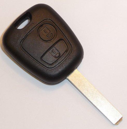 Jongo - Coque de Clé avec Lame Compatible avec Citroën C1, C2, C3, C4 et C5 | Boitier Clef Plip Voiture Télécommande 2 Boutons