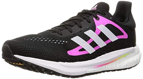 adidas Solar Glide W, Zapatillas para Correr Mujer, Core Black/FTWR White/Screaming Pink, 39 1/3 EU