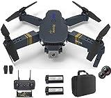 XTREME STYLE ✈️ Mini dron FPV con cámara dual 4K UHD zoom 50x D. 2 baterías para 40 minutos de tiempo de vuelo. Cuadricóptero teledirigido plegable para niños y principiantes. Muchos modos de vuelo