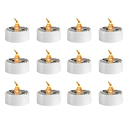 DANSHEN 12 velas LED decorativas para Halloween, sin llama, decoración para árbol de Navidad, Pascua, boda, fiesta