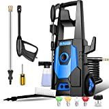 Electric Pressure Washer,3600PSI High Pressure Washer 2.6GPM Power Washer Electric 1800W Water Pressure Washer,with 4 Nozzles,Spray Gun,Brush,Best for Cleaning Patio,Garden,Fences,car (Blue)