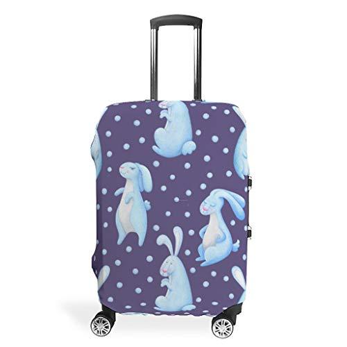 Funda protectora para equipaje de viaje con diseño de huevo de conejo de Pascua (para maleta de 28 a 32 pulgadas)