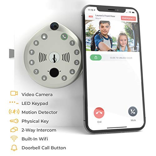 Smart Lock by Gate Labs: WiFi All-in-One Doorbell & Deadbolt   App Enabled, Built-in Camera, Two-Way...