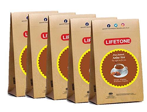 Té de anís estrellado   Deliciosa mezcla con Ceylon BOPF   Té de ayuda para dormir   Antídoto para el insomnio Ayuda para dormir   100 bolsitas de té   Paquete de 5