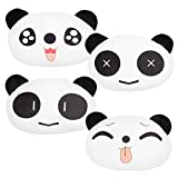 RETON 4 Pcs Cute Neck Pillow Panda Plush Auto Car Headrest Neck Support