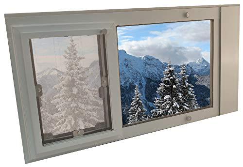 Security Boss MaxSeal Insulated Dual Pane Glass Sash Window Pet Door Insert