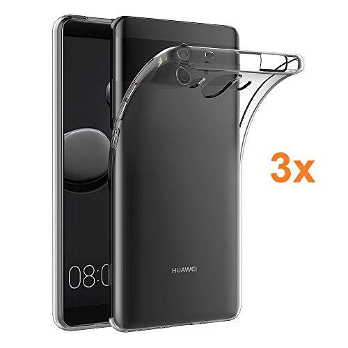 REY 3X Funda Carcasa Gel Transparente para Huawei Mate 10, Ultra Fina 0,33mm, Silicona TPU de Alta Resistencia y Flexibilidad