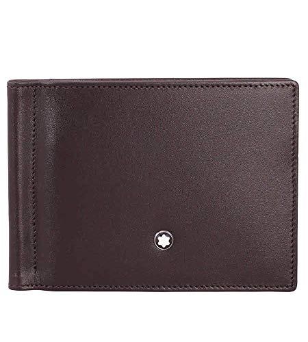 Montblanc Meisterstück Geldbeutel MST Wallet 6cc Money Clip Small Münzbörse, Braun