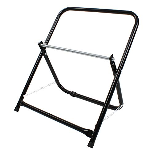 BISupply Wire Spool Rack Cable Caddy, Black - Wiring Spool Dispenser Bulk Cable Holder, Electrical Wires Dolly Spinner