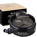 Mizon Premium Under Eye Patches Eye Masks with Black Pearl, Eye Gel Treatment Masks for Puffy Eyes, Eye Pads for Dark Circles, Under Eye Bags, Wrinkle Care, Moisturizing, Improves Elasticity 60 PCS