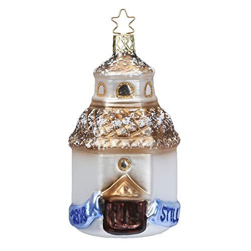 Inge-glas Peaceful Silent Night Chapel 10077S018 IGM German Blown Glass Christmas Ornament