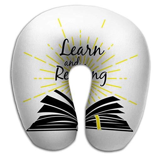 Almohada en Forma de U, Moda, Transpirable, Ajustable, Libro Abierto, Aprender a...