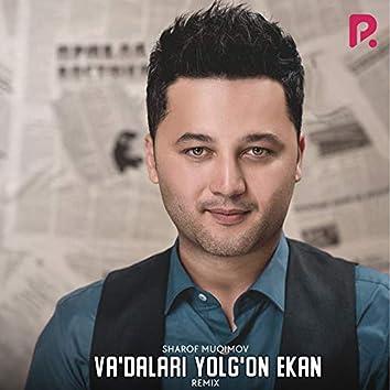 Va'dalari Yolg'on Ekan (Remix)