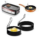 Baodanfirst Egg Ring Set,scrambled egg cooker grill For Cooking baking,Stainless Steel omlette maker...