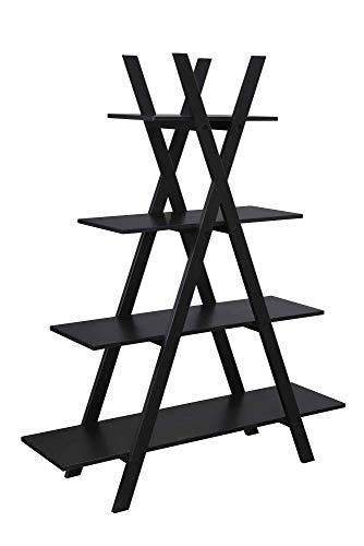 Convenience Concepts Oxford 'A' Frame Bookshelf, Black