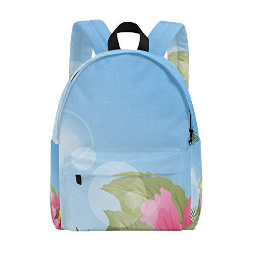 Mochilas de escuela de plantas tropicales de flores polinesias, bolsa de libros para niños, adolescentes, estudiantes, mujeres, universidad, mochila de viaje
