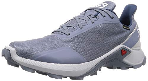 Salomon Trail Running-Schuhe für Herren, ALPHACROSS GTX, Blau (Hellblau/Grau/Blau), 44 2/3 EU