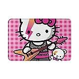 Sli8zhen - Alfombra antideslizante para puerta de dormitorio, sala de estar, comedor, cocina, Hello Kitty, para piso de baño, 15.7 x 23.6 pulgadas