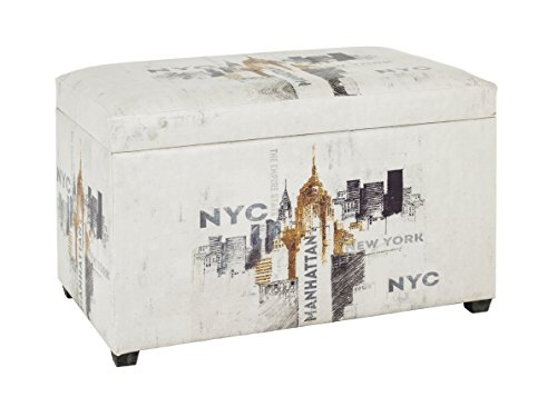 Haku Möbel 15935 caja de asiento, cuero sintético, vintage, 40 x 65 x 42 cm