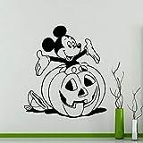 Anime dibujos animados ratón pegatinas de pared dibujos animados de halloween cabeza de calabaza calcomanías de vinilo...