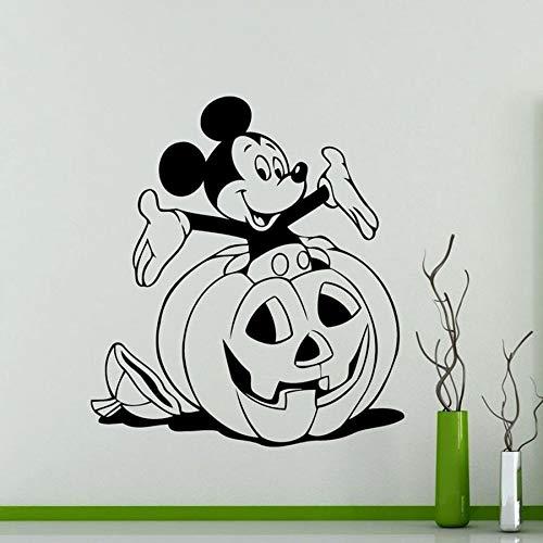 Anime dibujos animados ratón pegatinas de pared dibujos animados de halloween cabeza de calabaza calcomanías de vinilo hogar niños jardín de infantes habitación decoración de interiores arte de pared