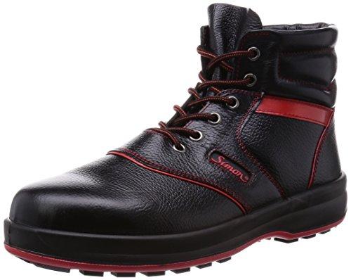 [シモン] 安全靴 JIS規格 中編上 シモンライト SL22 黒/赤 26