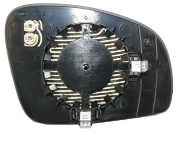 Cristal placa espejo retrovisor Fabia 2007-2010 izquierdo térmico