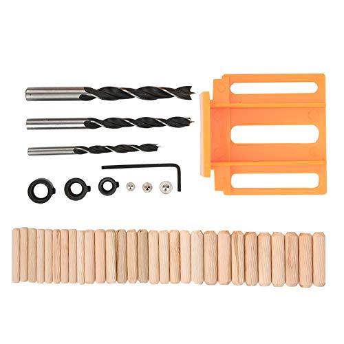 Localizador de punzones, guía de orificios, fácil de instalar Precisión de nivel milimétrico 41 piezas/juego para trabajos de carpintería Carpintería(orange, blue)
