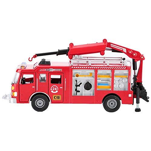 Qiterr Spielzeugmodellauto, 1:50 Kids Alloy Engineering Automodell Simuliertes Feuerwehrauto Spielzeug