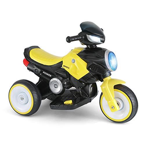 LWXXXA Paseo en Juguete, Triciclo elctrico, batera, con msica e iluminacin, para nios y nias, de 3 a 7 aos, se Puede Cargar