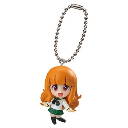 Bandai Girls and Panzer Gashapon Swing Mascot Key Chain Figure ~1.5' - Takebe Saori