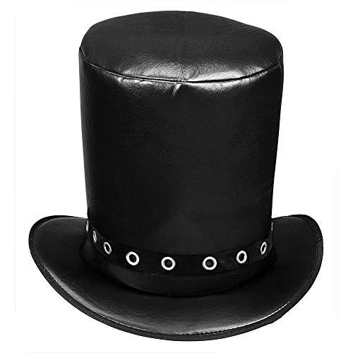 WIDMANN 03609?Sombrero de Cilindro en imitación de Piel para Adultos, One Size