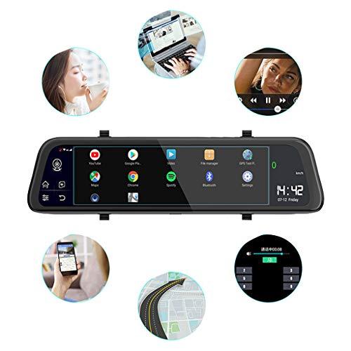 Bascar Full Screen 4G Touch IPS Universal Bundle Auto Armaturenbrett Cam Rückspiegel Rückspiegel mit GPS Navi Bluetooth Musik WiFi Android 8.1 Dual Lens FHD Auto Rückspiegel Kamera Smart Dash Cam