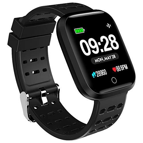 InnJoo IJ-SPORTWATCH-S-MBK - Reloj Sportwatch Cuadrado Negro metálico