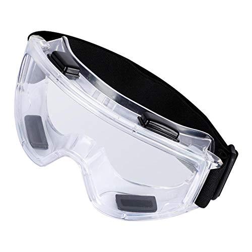 afto mket Unisexo Gafas Protectoras De Seguridad-Completamente Sellado Alta Definición Lente Translúcida,Anti Niebla Antisalpicaduras Saliva Gafas De Protección,para Bacteriana Salud Defensa