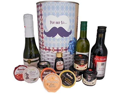 Lata con abre fácil con productos gourmet para regalo