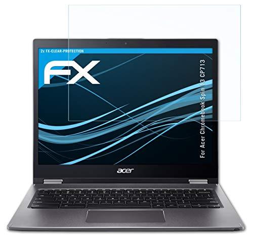 atFolix Schutzfolie kompatibel mit Acer Chromebook Spin 13 CP713 Folie, ultraklare FX Bildschirmschutzfolie (2X)
