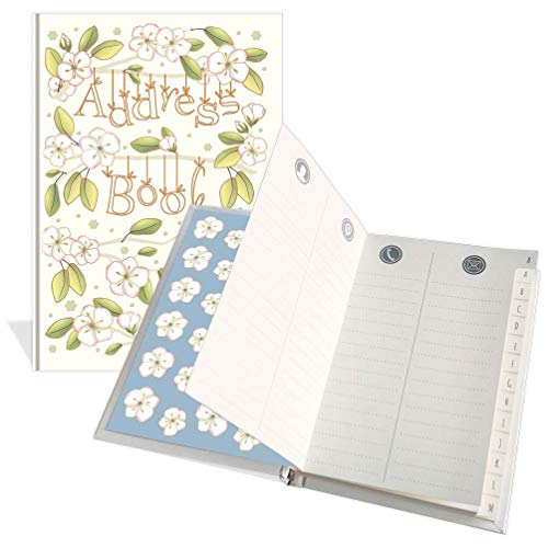 Lussuosa rubrica tascabile – design anemone – 104 pagine – Dimensioni 91 mm x 130 mm