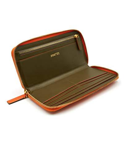 SOOFRE Berlin Leder Portemonnaie, Damen Geldbörse, Brieftasche, Geldbeutel, Organizer, Wallet – Orange | Khaki