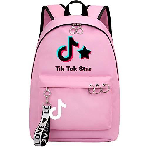 Douyin White Font Rucksack, Kinder Schultasche, tragbare Rucksack 42CMX30CMX14.5CM Rosa