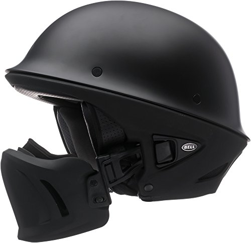 Bell Rogue Half-Size Motorcycle Helmet (Solid Matte Black, Medium)