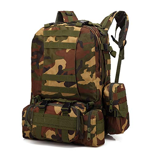 Fasclot 55L Outdoor Military Tactical Backpack Rucksack Camping Bag Travel Hiking