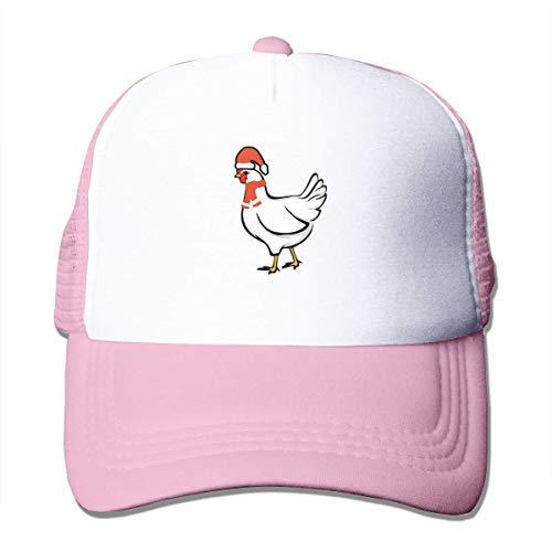 Chicken with Santa Hat Adjustable Mesh Trucker Baseball Cap Men Or Women Hip Hop Hat Fashion65