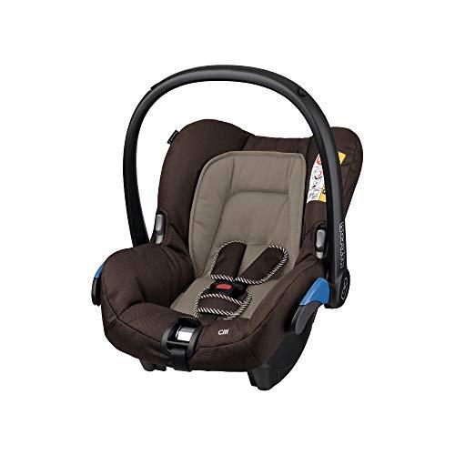 Maxi-Cosi Citi Babyschale, federleichter Baby-Autositz Gruppe 0+ (0-13 kg), nutzbar ab der Geburt bis ca. 12 Monate, Earth Brown (braun)