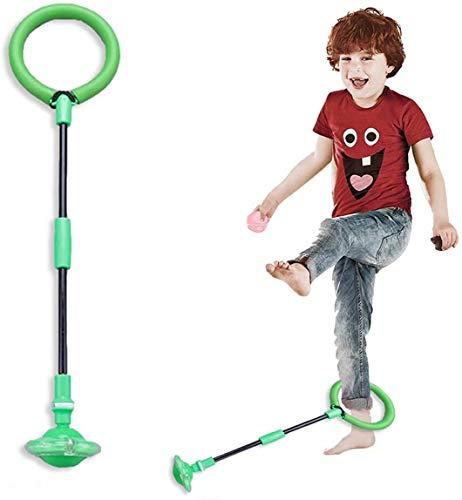 Queta Corda per saltare alla caviglia, palla pieghevole per saltare alla caviglia con contatore integrato, senza batteria, giocattolo lampeggiante per bambini dai 3 anni e adulti (verde)