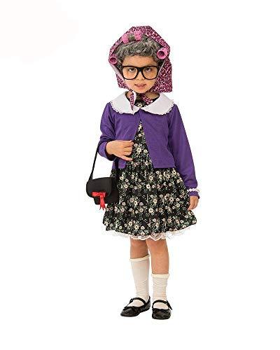 Rubies - Disfraz de pequea mujer vieja para nia, talla 3-4 aos (Rubies 510574-S)