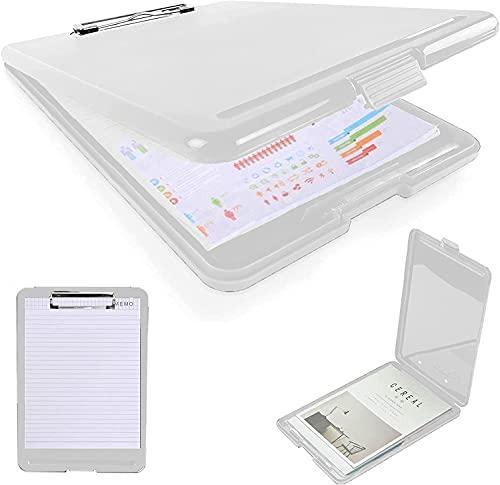 Fincy Palmoo クリップボードフォルダ a4 ファイルボード 書類の収納ができる クリップファイル バインダー 会議用パッド ファイル 収納 ボックス クリア サイズ ボード ペン ホルダー (半透明)