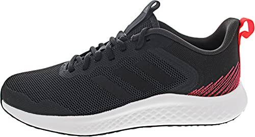 adidas FLUIDSTREET, Zapatillas de Running Hombre, Carbon/NEGBÁS/Rojsol, 41 1/3 EU