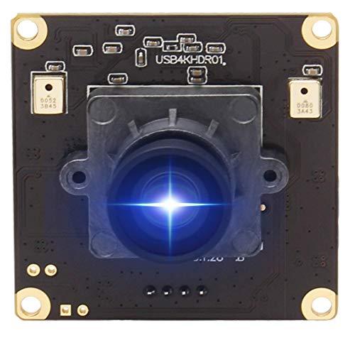 ELP 4K Ultra HD Webcam Unterstützung 3840x2160@30fps mit No-Distortion Objektiv, IMX317 Sensor PC Webkamera für Windows/Mac/Linux,2160P Laptop USB Webcams für PC Desktop Notebooks USB4KHDR01-V100